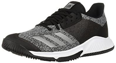 buy online daef5 b8e67 adidas Womens Crazyflight Team Volleyball Shoe, BlackSilver  MetallicWhite, ...