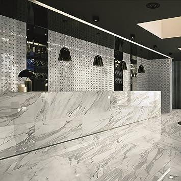 Gut gemocht Italienisches Porzellan Marmor Effekt Calacatta Bianco poliert PX82