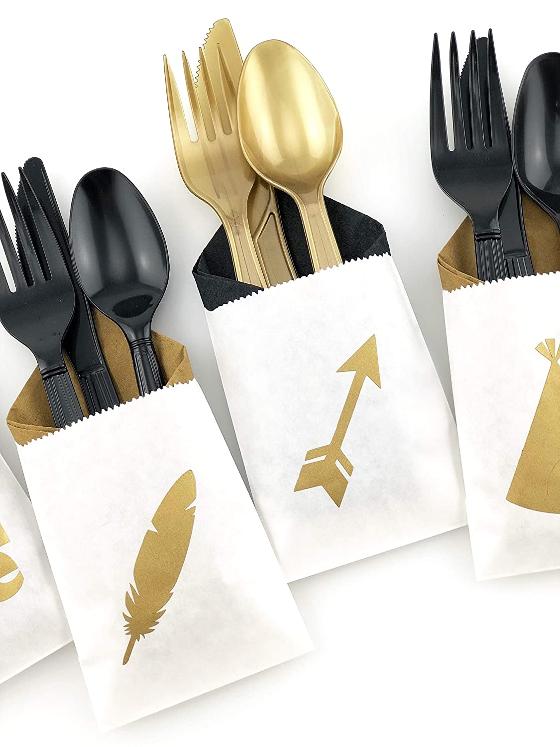 Wild One Cutlery Party Supplies First Birthday Favor Bags Napkins Utensils Stesha Party