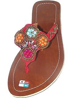SAWA Damen Flip Sandale Perla Schwarz Zehentrenner Zehenpantolette