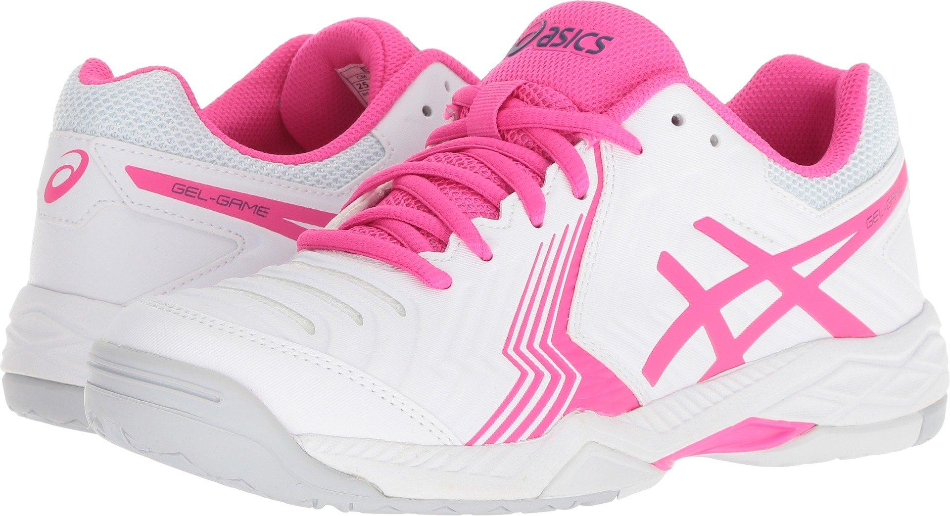 ASICS E755Y Women's Gel-Game 6 Tennis Shoe, White/Pink Glo - 8.5 B(M) US