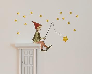 Wandtattoo Sternenwichtel mit weißer Wichteltür fürs Kinderzimmer ...