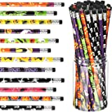 48 Pieces Halloween Pencils Multicolored Ghost Pumpkin Pencil Assortment Halloween Stationery Pencil, 12 Styles