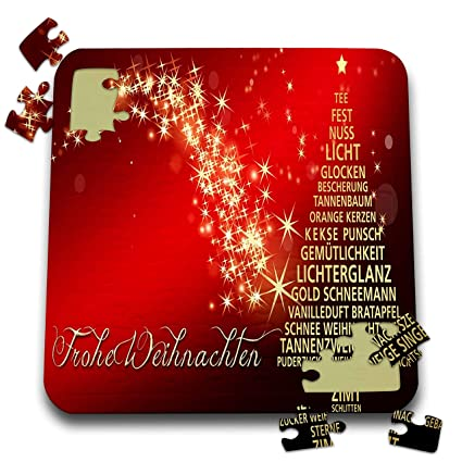 Tannenbaum Puzzle.Amazon Com 3drose Christmas Image Of Gold Tree And Words On Red