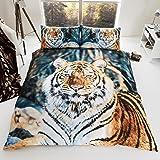 Gaveno Cavailia Premium Colleciton 3D Tiger set con copripiumino e federa King, poliestere-cotone, multicolore, multicolore