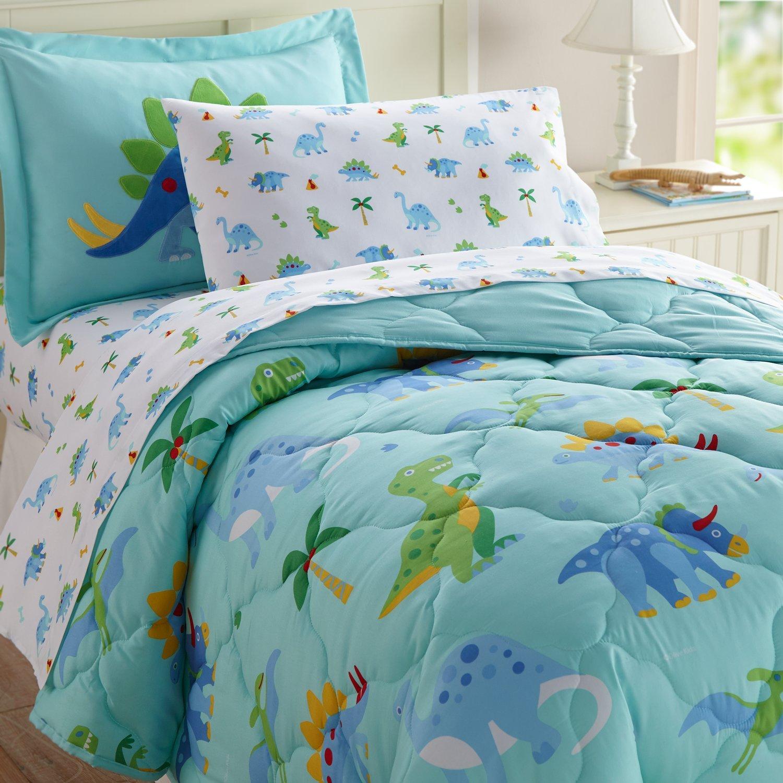 Wildkin 5 Pc Bedding, Twin, Dinosaur Land