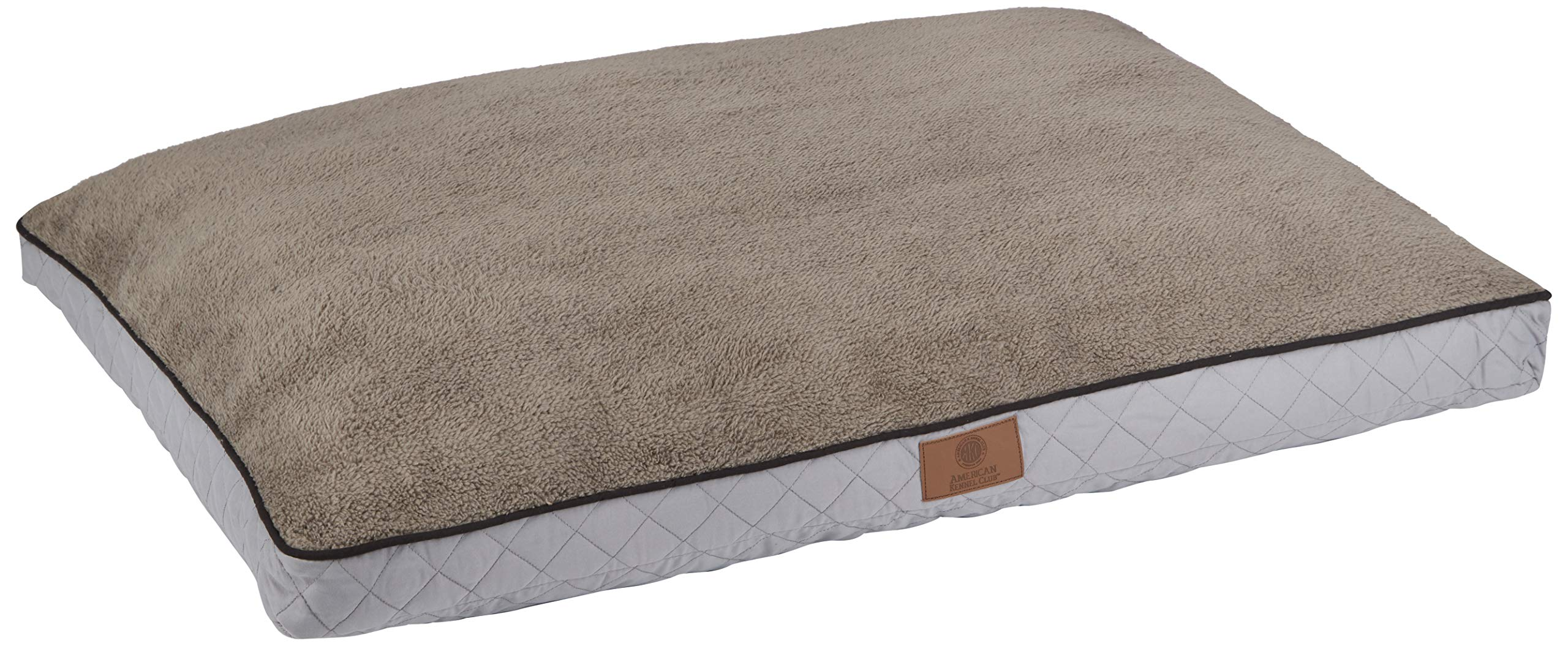 American Kennel Club AKC9690GRAY Diamond Stitched Reversible Pet Gusset Bed