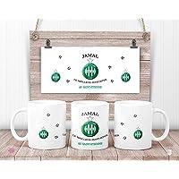 Mug ASSE personnalisé - Mug AS Saint-Etienne - cadeau anniversaire - cadeau de noël
