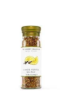 The Gourmet Collection Seasoning Blends Lemon Pepper Spice Blen -Seasoning Rub for Cooking Fish, Seafood, Chicken, Pasta, Salmon, Salad, Vegetables.