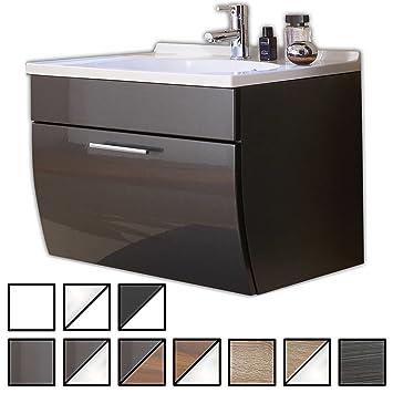 Waschbeckenunterschrank hängend gäste wc  Waschtisch Set Wendum Anthrazit (Waschbecken mit ...