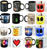 4 Ceramic Mugs - Color Changing Heat Sensitive Ceramic Cups - Best Office Cup, Annivarsary Present, Birthday Gift For Men & Women, Him or Her Gift
