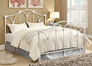 coaster home furnishings queen bed white headboardfootboard only