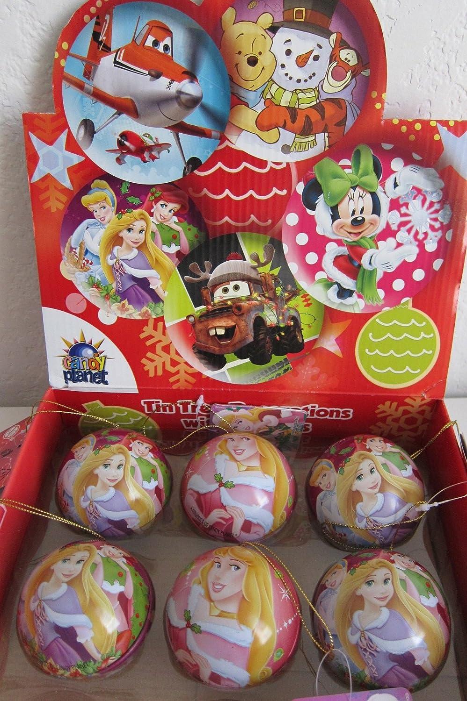 Amazon Com Disney Princess Tin Egg Treats Christmas Tree Ornament