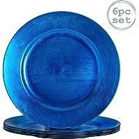 Argon Tableware Juego de bajoplatos Redondos - Azul