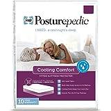 Sealy Posturepedic - Protector de colchón con refrigeración, Blanco, King, 1