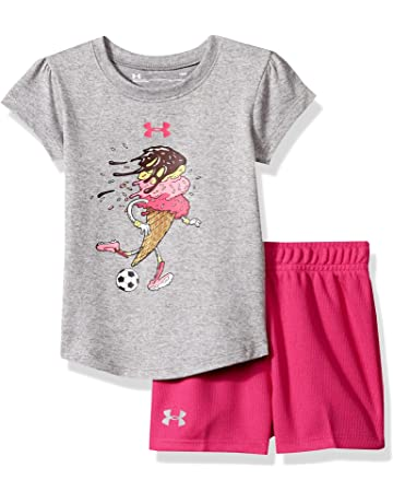 7b8987e537bc Under Armour Baby Girls' Lumos Tee and Shorts 2 Piece Set
