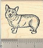 Pembroke Welsh Corgi Dog Rubber Stamp