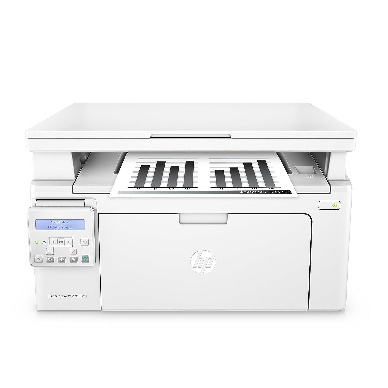 HP M130NW LaserJet Pro Stampante Multifunzione, Wireless, Bianco G3Q58A#B19