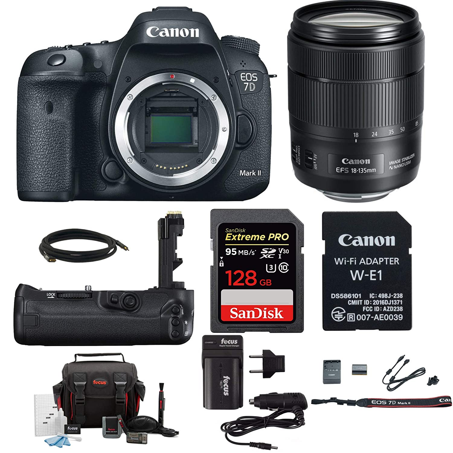 Canon EOS 7D Mark II 18-135 Wi-Fi Adapter Kit + Canon