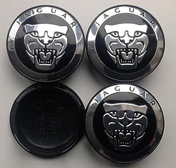 4 tapacubos, color negro, 59 mm, para Jaguar XType, XK, XF, XJ, XJ8, XJ6: Amazon.es: Coche y moto