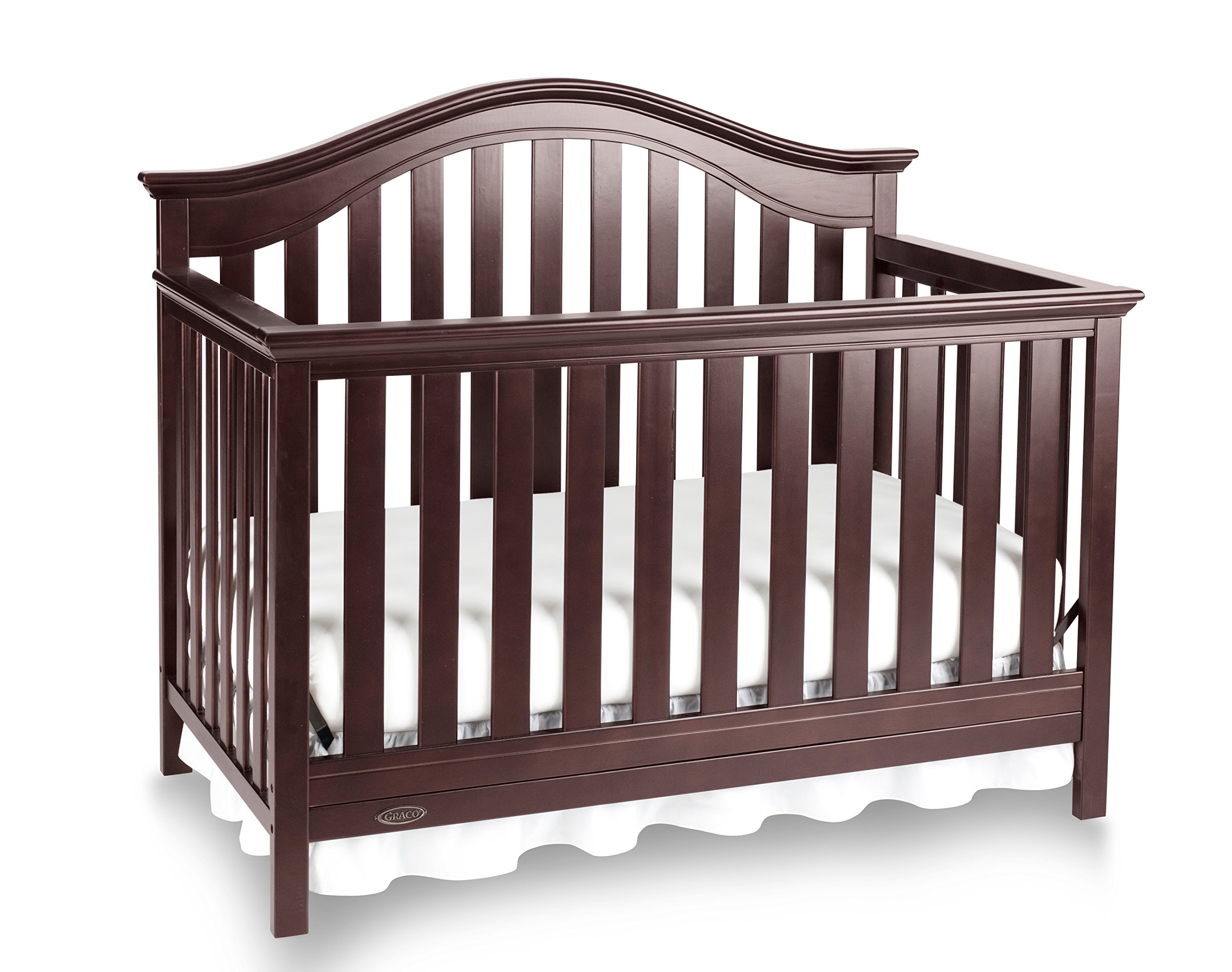 Graco Bryson 4-in-1 Convertible Crib, Espresso, Easily Converts to Toddler Bed Day Bed or Full Bed, Three Position Adjustable Height Mattress, Some Assembly Required (Mattress Not Included) by Storkcraft