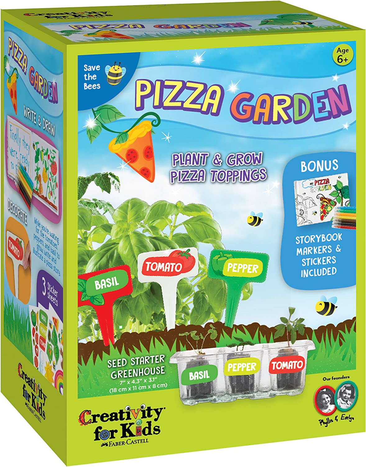 Creativity for Kids Pizza Garden Kit - Grow Your Own Pizza Vegetable and Herbs - Gardening Kit for Kids