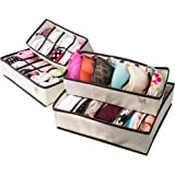 Creatov Collapsible Underwear Closet Organiser, Set of 4 Beige
