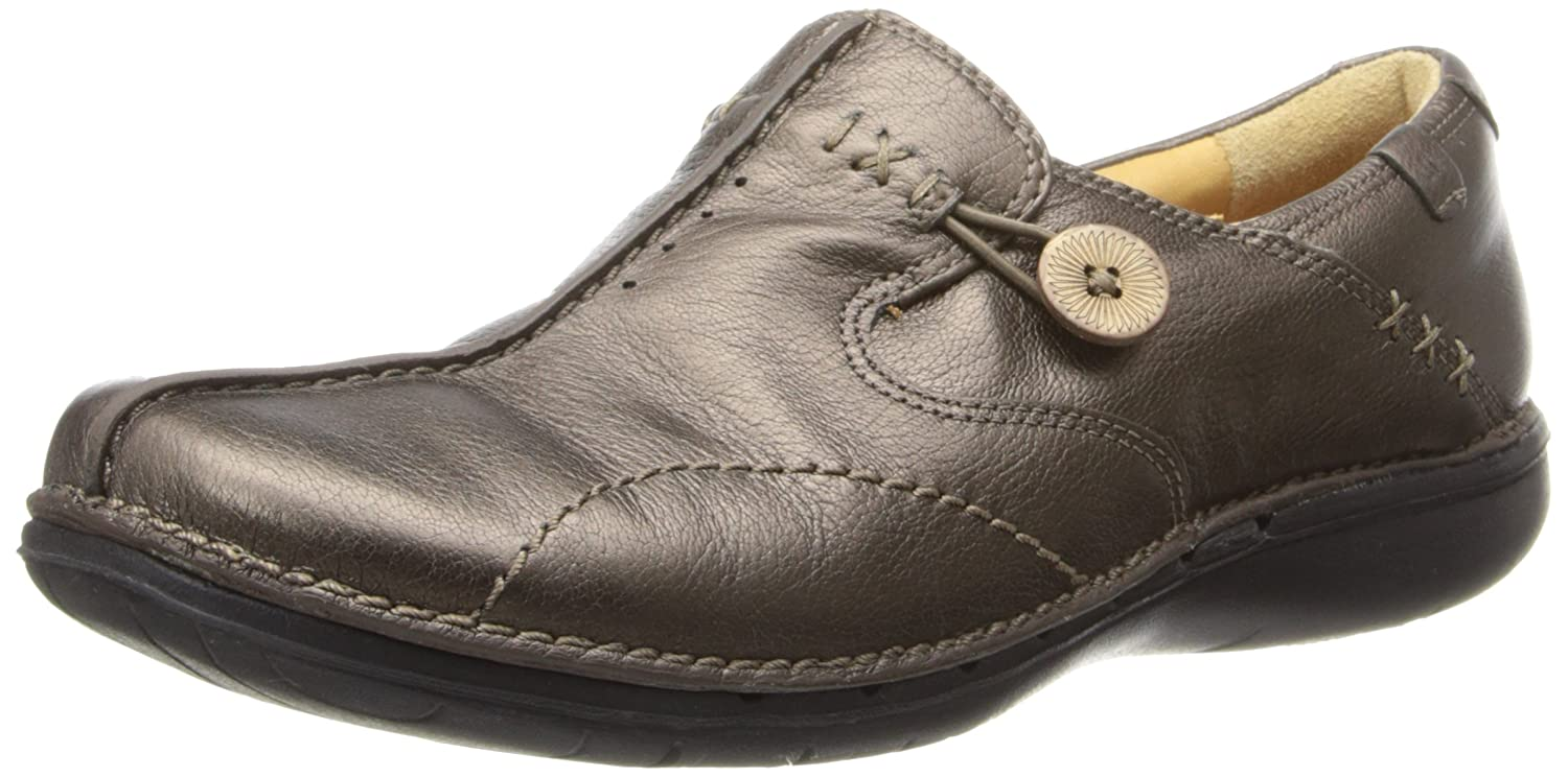CLARKS Unstructured Women's Un.Loop Slip-On Shoe B00E1B64K4 10 C/D US|Bronze Leather