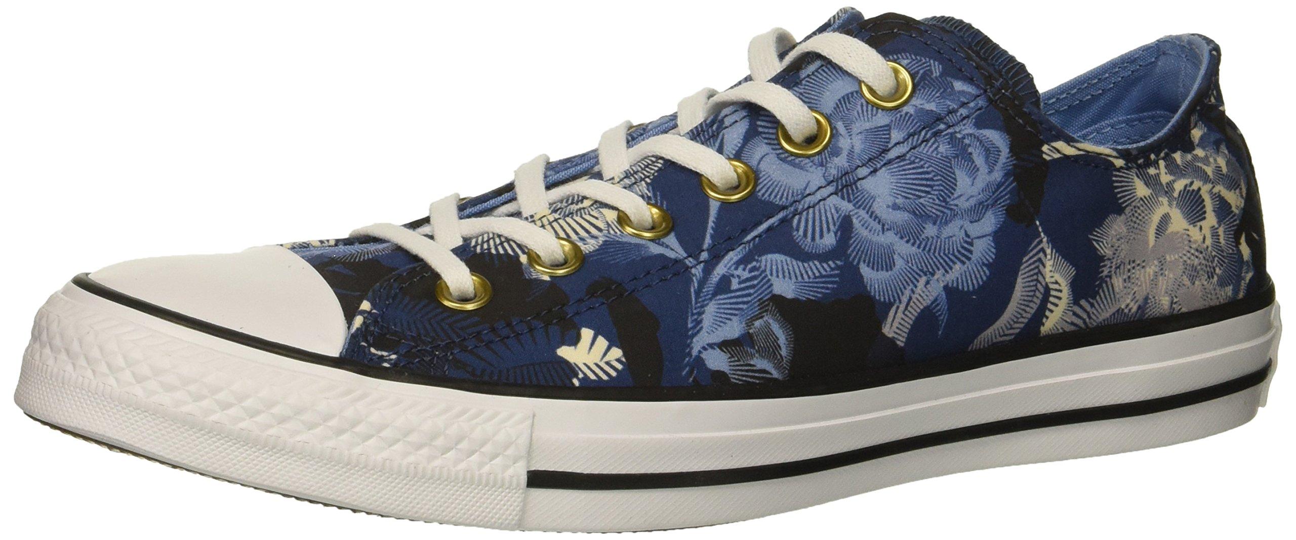 Converse Women's Chuck Taylor All Star Floral Print Low Top Sneaker, Mason Blue/Light Blue, 7.5 M US