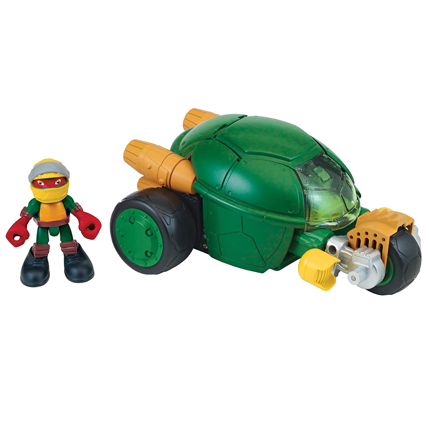 Amazon.com: Teenage Mutant Ninja Turtles Pre-Cool Half Shell Heroes Stealth  Cycle with Raphael Vehicle and Figure: Toys & Games