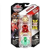 Spin Master 6014696 Bakugan Gundalian Invaders Bakutriad - Luchadores Bakugan (3 unidades, diseños variados)