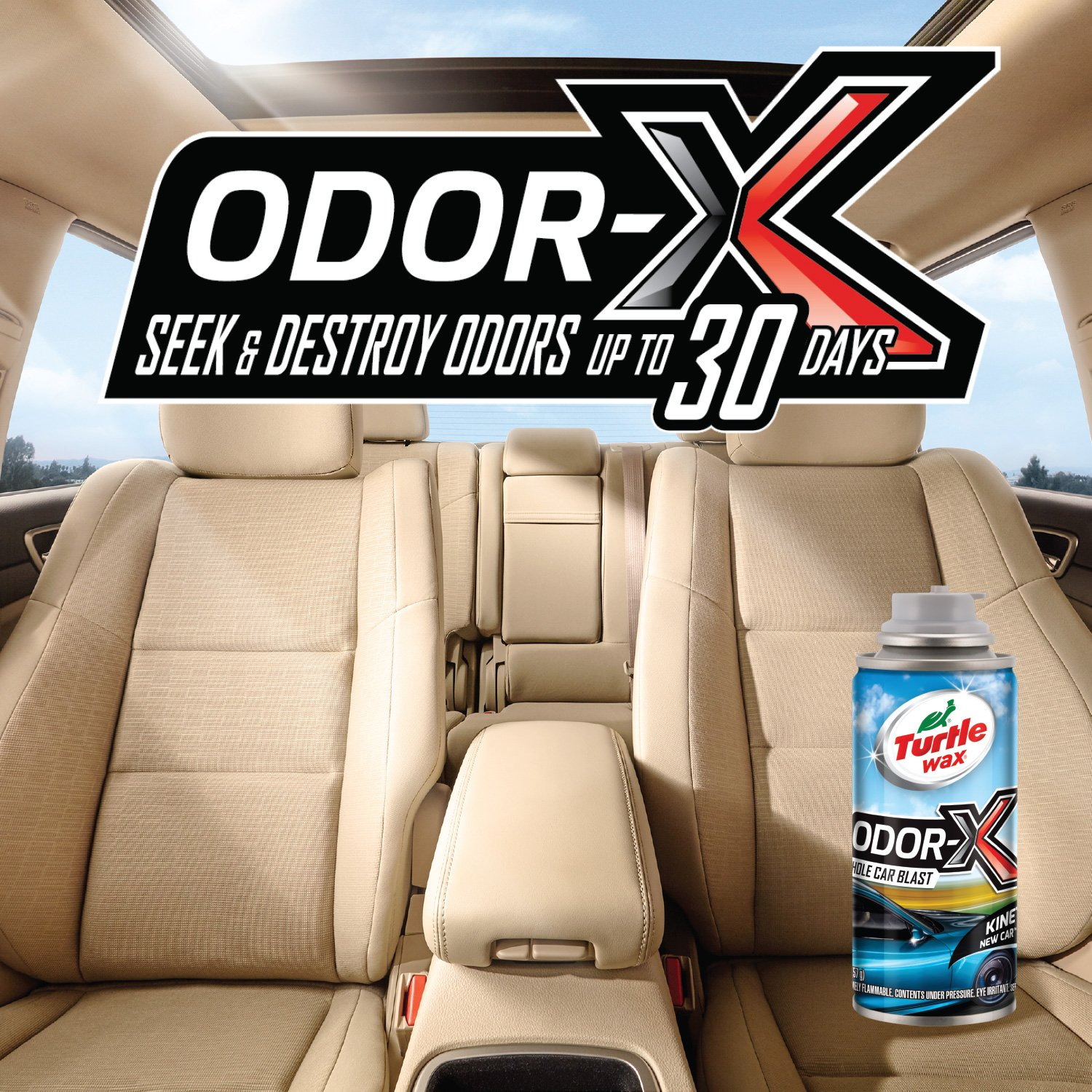 Turtle Wax 50819 Power Out! Odor-X Kinetic Whole Car Blast, 2-Pack by Turtle Wax (Image #4)