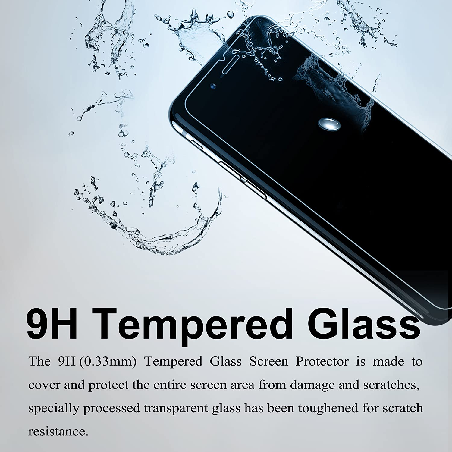 Ailun Screen Protector for iPhone 8 Plus7 Plus6s Plus6 Plus55 Inch 3Pack 25D Edge Tempered Glass