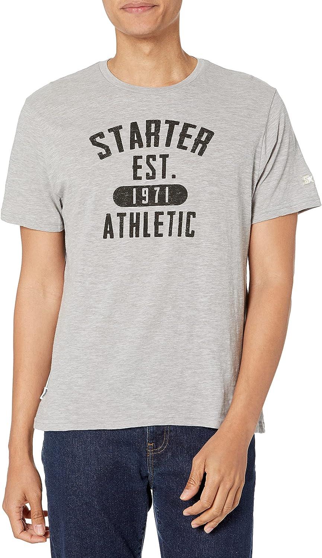 Starter Men's Short Sleeve Est. 1971 Logo T-Shirt, Amazon Exclusive