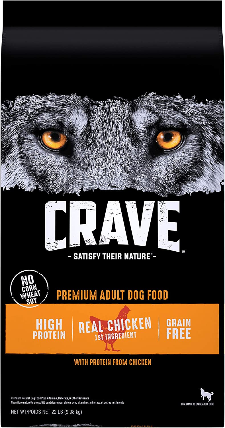 CRAVE Grain Free High Protein Adult Dry Dog Food, Beef & Chicken