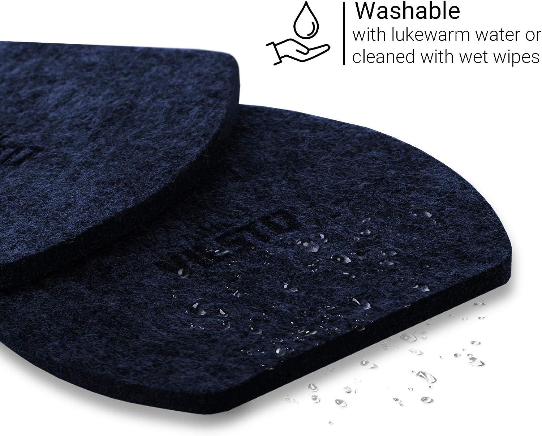 Regalos C/ócteles Azul Oscuro Cuadrado Juego de 6 Antideslizante Protecci/ón de Mesa Vasos para Copas Tazas VILSTO Posavasos de Fieltro
