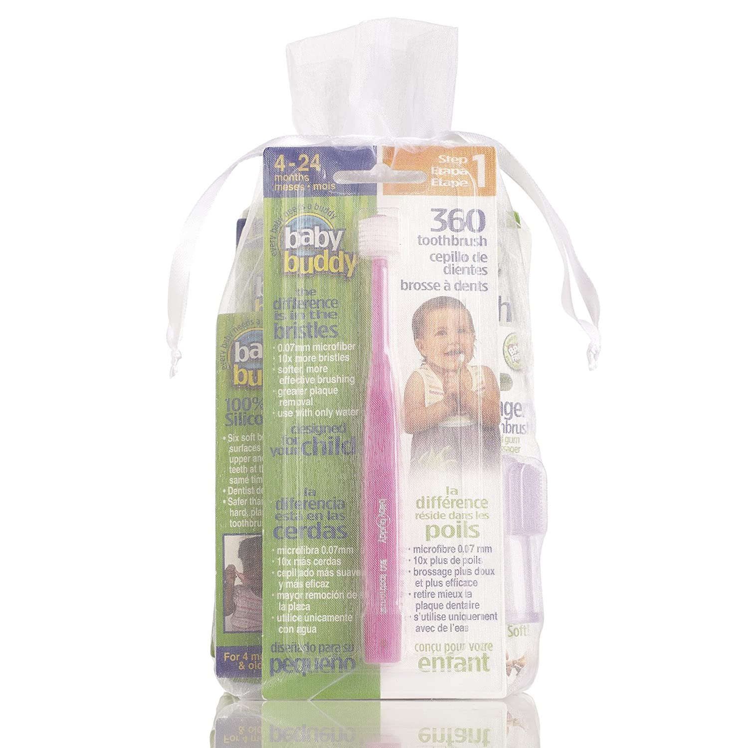 Baby Buddy Infant Oral Care Set Pink