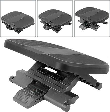 Poggiapiedi con Piattaforma Regolabile in plastica Nera 450 x 330 mm PrimeMatik