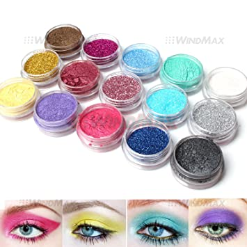 15 warm color glitter shimmer pearl loose eyeshadow pigments mineral eye shadow dust powder makeup party