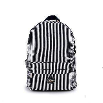 Multi-Función Moda Mochila de mmi - Bolsa Casual y Portátil para Escuela y Viaje (Cool Denim Stripes, Média): Amazon.es: Equipaje