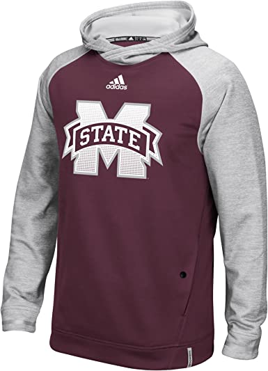 adidas Mississippi State Bulldogs NCAA Mens Primary Logo Maroon Climalite 10 Knit Shorts