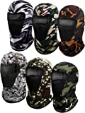 6 Pieces Balaclava Face Mask Motorcycle Mask Windproof Camouflage Fishing Cap Face Cover for Sun Dust Protection (Mixed…