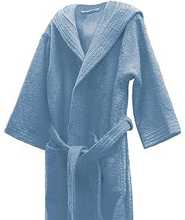53622ec151 Home Basic Kids - Peignoir Enfant avec Capuche Taille 2, Couleur Bleu Ciel