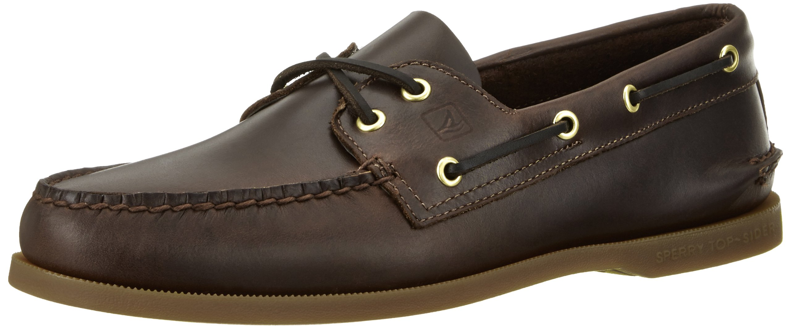 Sperry Top-Sider Men's Authentic 2-Eye Boat Shoe, Amaretto, 16 M US
