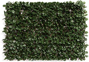 DOEWORKS Expandable Fence Privacy Screen for Balcony Patio Outdoor(Double Sides Leaves), Faux Ivy Fencing Panel for Backdrop Garden Backyard Home Decorations - 1PACK