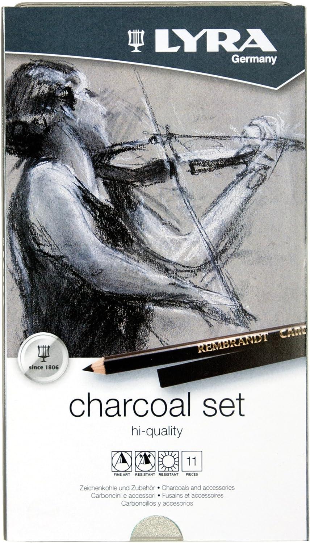 Lyra Rembrandt Charcoal 12 Pcs Set