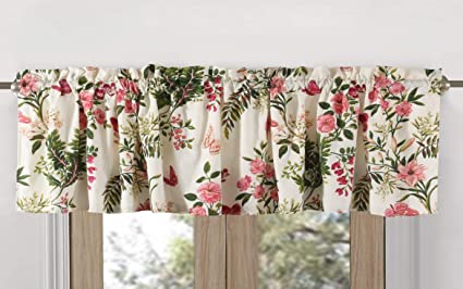 Greenland Home Butterflies Window Valance, Multicolor