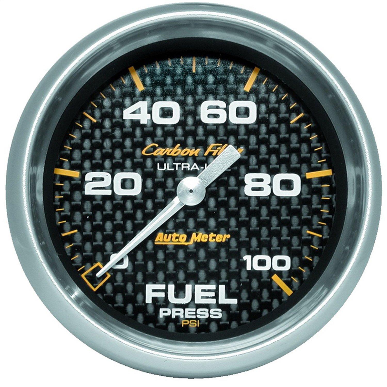 Auto Meter 4863 Carbon Fiber Electric Fuel Pressure Gauge by Auto Meter