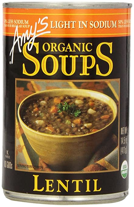 Amy's Light in Sodium Organic Soups Lentil