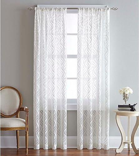 CHF Lyric Curtain Panel, 84 , White